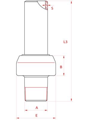 Meccanica Segrino - Giunto isolante maschio a saldare PN 10 per gas e acqua / Isolation joint male/welding PN10 for gas/water
