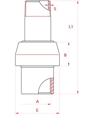 Meccanica Segrino - Giunto isolante maschio/femmina zincato PN 10 per gas e acqua/Isolation joint male/female galvanized PN10 for gas/water
