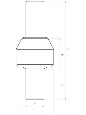 Meccanica Segrino - Giunti isolanti per condotte  (PN16 e PN25) - Disegno tecnico / Main line isolation joints (ANSI 150) - Technical Sheet