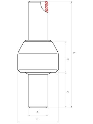 Meccanica Segrino - Giunti isolanti per condotte (PN64-100) - Disegno tecnico / Main line isolation joints (ANSI 300-600) - Technical Sheet